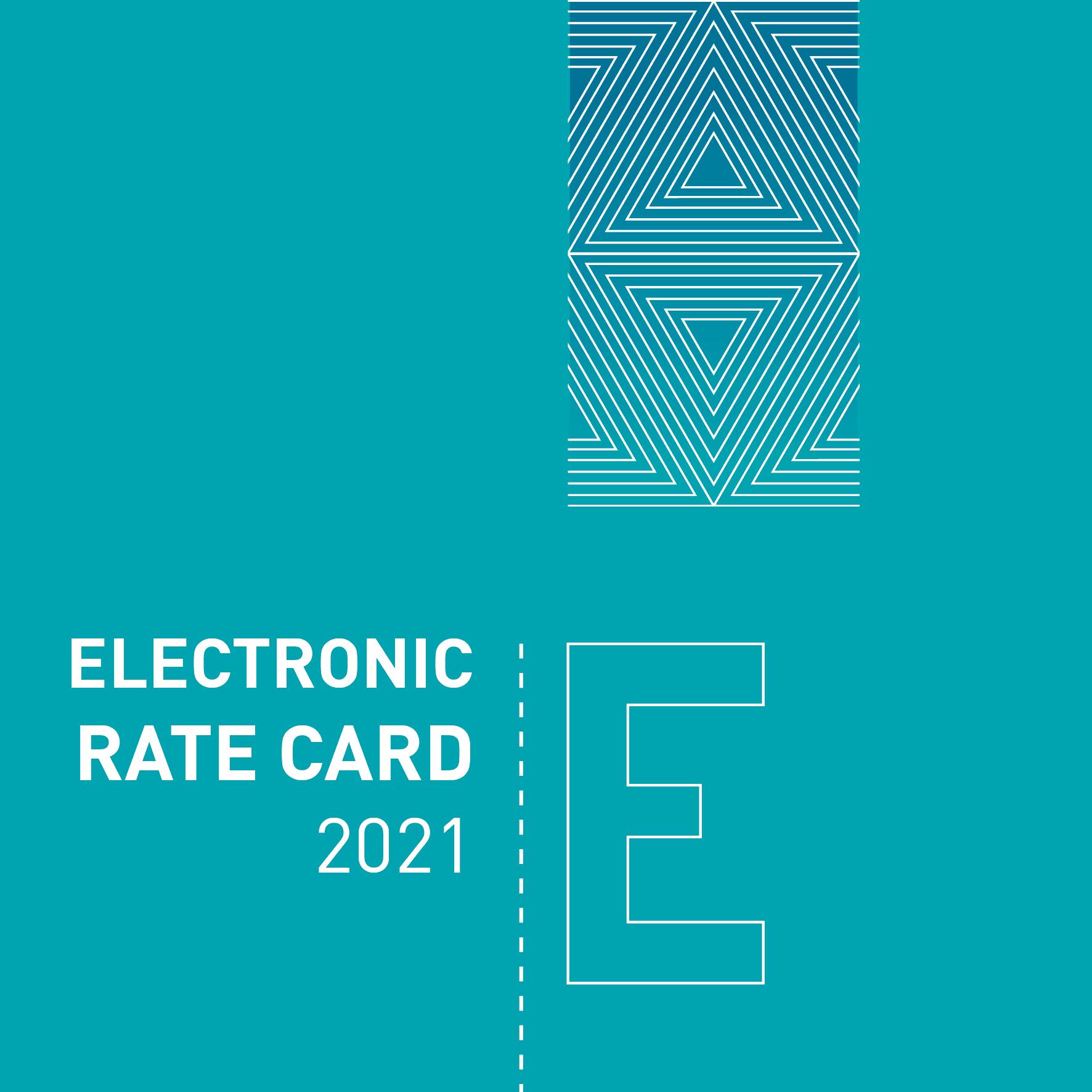2021 E rate card