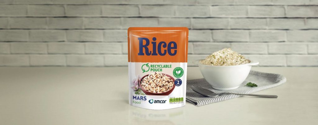 Amcor Mars recyclable rice pouch press release 2